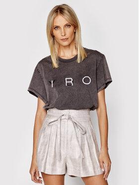 IRO IRO T-Shirt Iroyou A0700 Szary Relaxed Fit