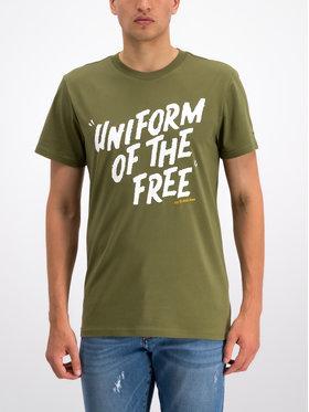 G-Star Raw G-Star Raw T-Shirt Graphic 9 R T S/S D14248-336-724 Zielony Regular Fit