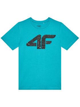 4F 4F T-Shirt HJL21-JTSM010 Niebieski Regular Fit