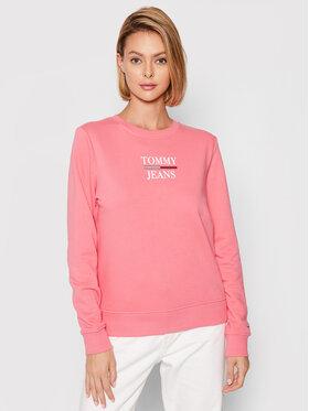 Tommy Jeans Tommy Jeans Pulóver Terry Logo DW0DW09663 Rózsaszín Regular Fit