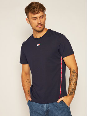 Tommy Sport Tommy Sport T-shirt Piping S20S200458 Bleu marine Regular Fit