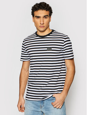 Calvin Klein Calvin Klein Tričko Chest Logo Stripe K10K107288 Čierna Regular Fit