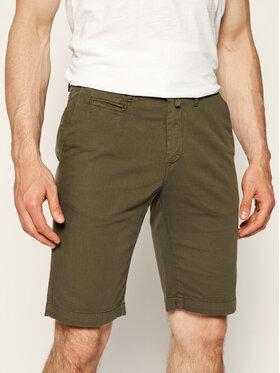 Pierre Cardin Pierre Cardin Szorty materiałowe 3465/2070 Zielony Tailored Fit