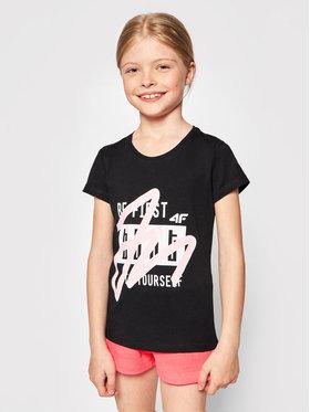 4F 4F T-Shirt HJL21-JTSD004A Schwarz Regular Fit