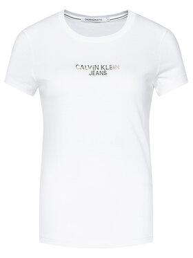 Calvin Klein Jeans Calvin Klein Jeans Póló J20J214232 Fehér Regular Fit