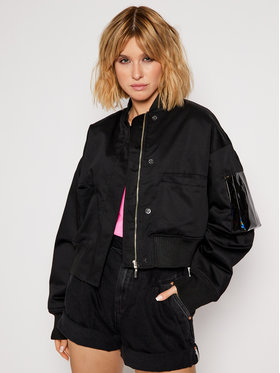 Local Heroes Local Heroes Kurtka bomber Free Love Bomber Jacket AW2021J0003 Czarny Regular Fit