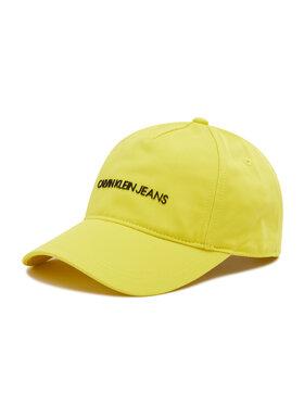 Calvin Klein Jeans Calvin Klein Jeans Czapka z daszkiem Institutional Logo Baseball Cap IU0IU00222 Żółty