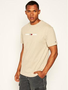Tommy Jeans Tommy Jeans T-Shirt Tjm Straight Small Logo DM0DM07621 Μπεζ Regular Fit