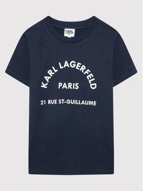 KARL LAGERFELD KARL LAGERFELD T-Shirt Z25316 S Granatowy Regular Fit