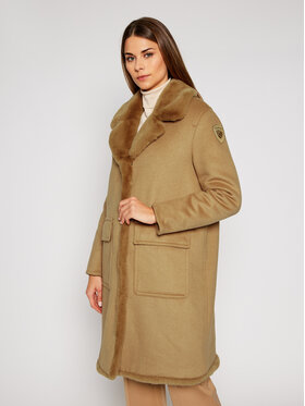 Blauer Blauer Вълнено палто Janice 20WBLDK01571 005831 Кафяв Regular Fit