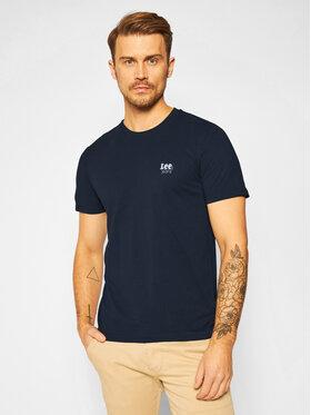 Lee Lee Marškinėliai Ss Small Logo L62LFQHY Tamsiai mėlyna Regular Fit