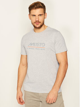 Musto Musto Tricou Lr Logo 84008 Gri Regular Fit