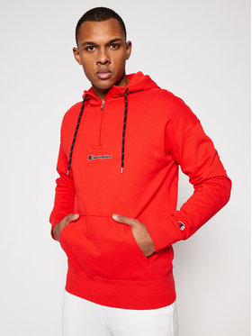 Champion Champion Pulóver Half Zip-Up 214196 Piros American Fit