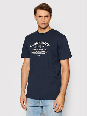 Quiksilver Quiksilver Тишърт Closed Tion EQYZT06536 Тъмносин Classic Fit
