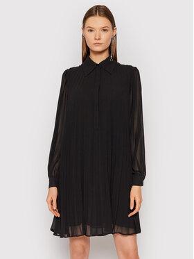 MICHAEL Michael Kors MICHAEL Michael Kors Sukienka koszulowa Georgette MF180PR7R3 Czarny Relaxed Fit