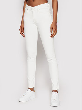 Lee Lee Jeansy Scarlet L526KW36 Biały Skinny Fit