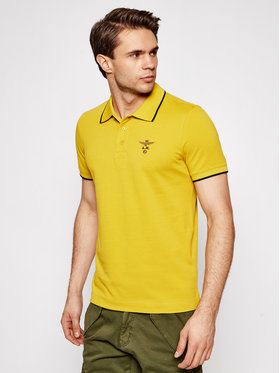 Aeronautica Militare Aeronautica Militare Тениска с яка и копчета 211PO1308P82 Жълт Regular Fit