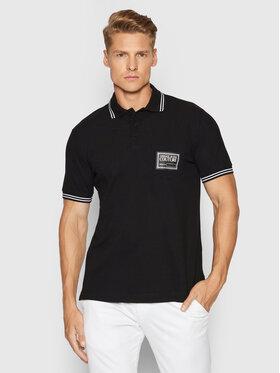 Versace Jeans Couture Versace Jeans Couture Тениска с яка и копчета Pocket 71GAGT06 Черен Regular Fit