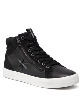 Calvin Klein Jeans Calvin Klein Jeans Sneakersy Vulcanized Mid Laceup YM0YM00229 Czarny