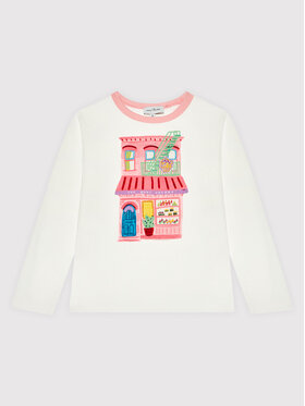 Little Marc Jacobs Little Marc Jacobs Блуза W15583 S Бял Regular Fit
