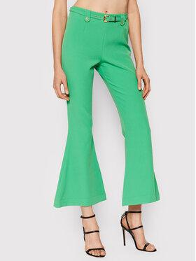 Pinko Pinko Spodnie materiałowe Flared 71HAA111 Zielony Regular Fit