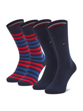 Tommy Hilfiger Tommy Hilfiger Súprava 2 párov vysokých pánskych ponožiek 472001001 Tmavomodrá