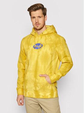 HUF HUF Bluza Relax Tiedye PF00345 Żółty Regular Fit