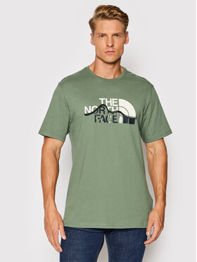 The North Face The North Face Тишърт Mount Line NF00A3G2V1T1 Зелен Regular Fit