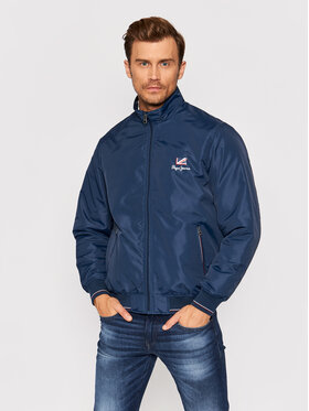 Pepe Jeans Pepe Jeans Bomber striukė Theodore PM402445 Tamsiai mėlyna Regular Fit