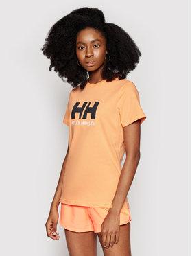 Helly Hansen Helly Hansen Marškinėliai Logo 34112 Oranžinė Classic Fit