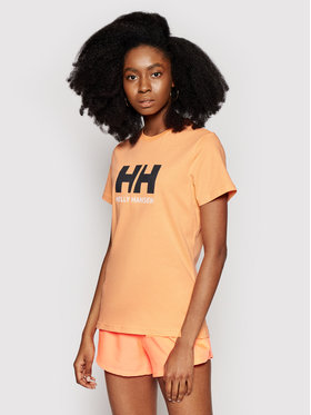 Helly Hansen Helly Hansen T-Shirt Logo 34112 Pomarańczowy Classic Fit