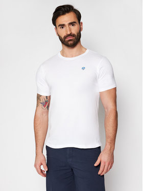 North Sails North Sails T-Shirt Logo 692530 Weiß Regular Fit