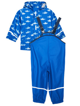 Playshoes Playshoes Komplektas: neperšlampanti striukė ir kelnės 408690 M Mėlyna Regular Fit