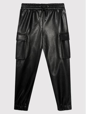 Guess Guess Панталони от имитация на кожа J1YB06 WE2S0 Черен Regular Fit