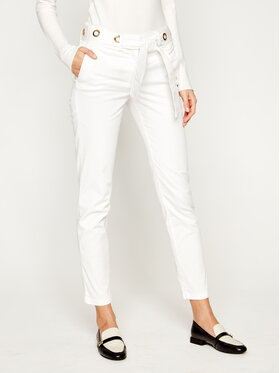 Trussardi Jeans Trussardi Jeans Chinosy Lux Gabardine 56P00001 Biały Regular Fit