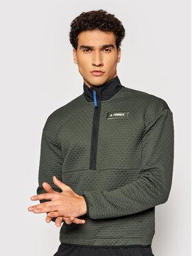 adidas adidas Bluza Terrex Hike GQ3683 Zielony Regular Fit