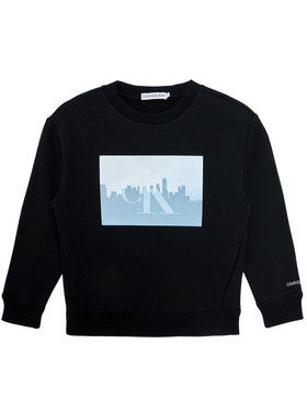 Calvin Klein Jeans Calvin Klein Jeans Μπλούζα Reflective Photo IB0IB00639 Μαύρο Regular Fit