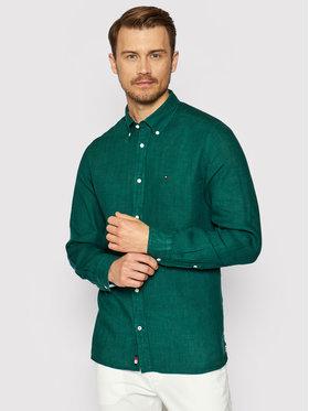 Tommy Hilfiger Tommy Hilfiger Marškiniai Pigment Dyed MW0MW17646 Žalia Regular Fit