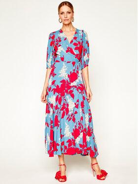 Calvin Klein Calvin Klein Každodenné šaty Prt ¾ Slv Wrap K20K201954 Modrá Regular Fit