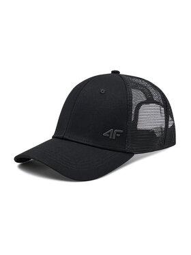 4F 4F Kepurė su snapeliu H4L21-CAM003 Juoda