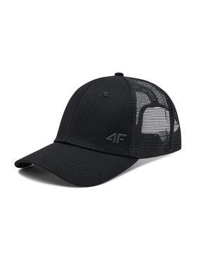 4F 4F Шапка с козирка H4L21-CAM003 Черен