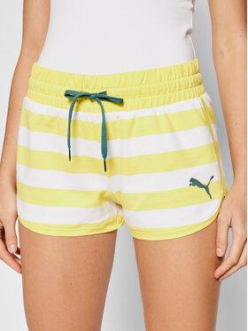 Puma Puma Спортни шорти Summer Stripes 845823 Жълт Regular Fit