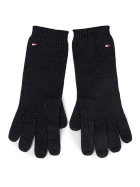 TOMMY HILFIGER TOMMY HILFIGER Дамски ръкавици Flag Knit Gloves AW0AW07197 Тъмносин