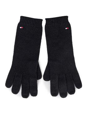 TOMMY HILFIGER TOMMY HILFIGER Rękawiczki Damskie Flag Knit Gloves AW0AW07197 Granatowy