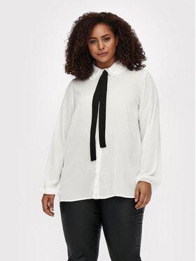 ONLY Carmakoma ONLY Carmakoma Marškiniai Cargerry 15244509 Balta Regular Fit