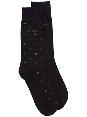 Boss Boss Комплект 2 чифта дълги чорапи мъжки 2P Rs Dot Cc 50431171 Черен
