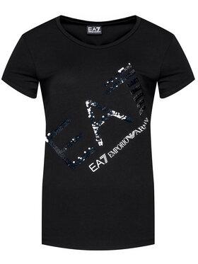 EA7 Emporio Armani EA7 Emporio Armani Marškinėliai 3KTT28 TJ12Z 0203 Juoda Regular Fit