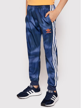 adidas adidas Teplákové nohavice Allover Print Camo SST GN4129 Tmavomodrá Slim Fit