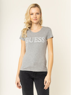 Guess Guess T-Shirt Crystal W01I74 J1300 Szary Regular Fit