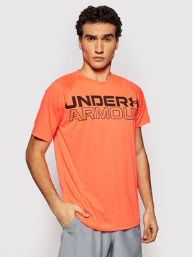 Under Armour Under Armour Funkčné tričko Wordmark 1361702 Oranžová Loose Fit